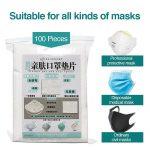 100pcs Mask Respirator Filter Pad Disposable Antivirus Corona COVID-19 Smog Prevention for kf94 N95 KN95 ffp3 2 1 All Face Masks